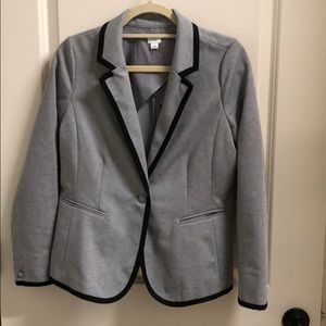 Crown and Ivy Gray and Black Blazer